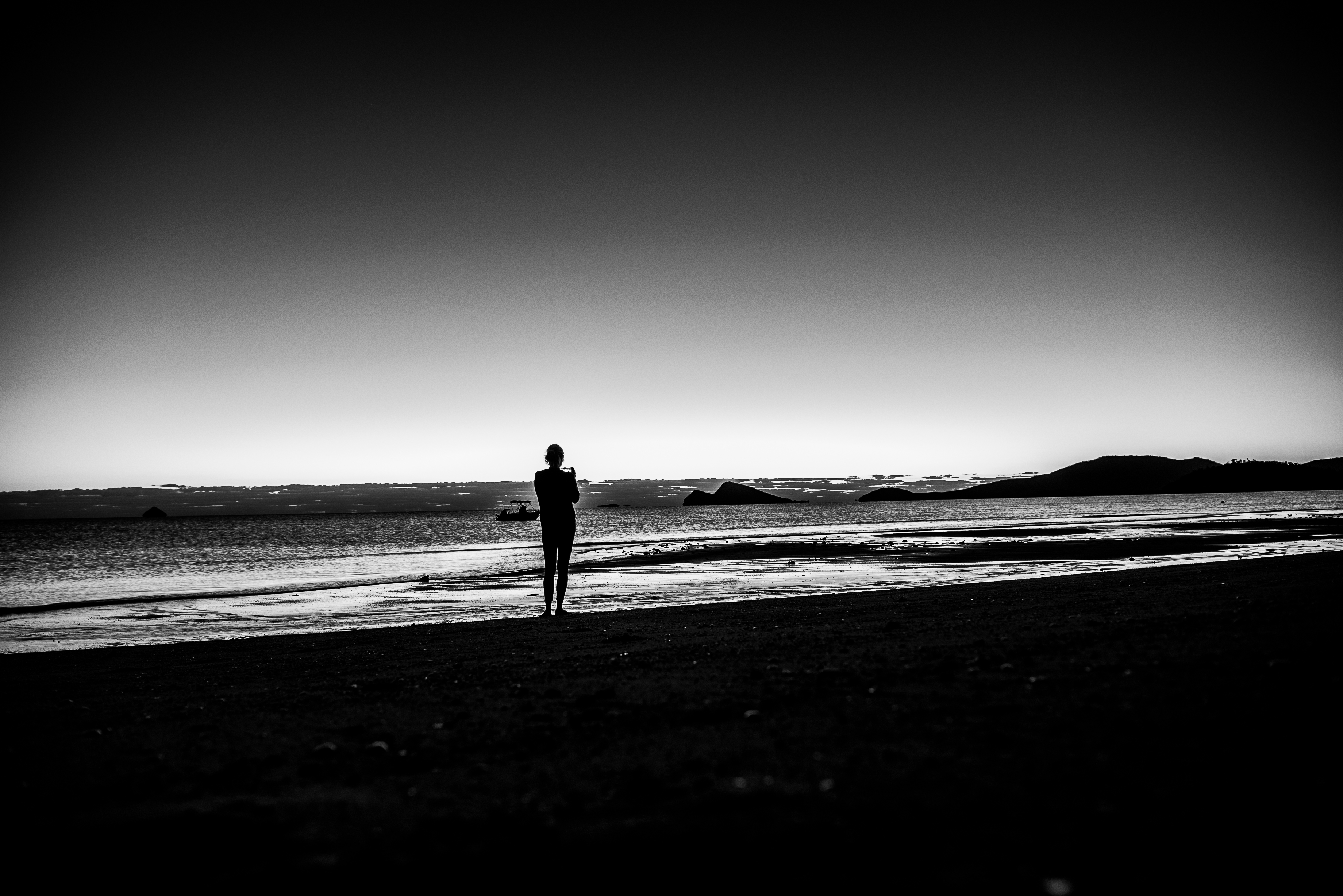 Single person on beach